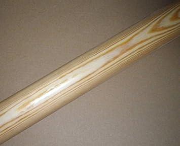 200cm 3 Edelstahl-Halter Kiefer Handlauf mit Holz-Halbkugel und Edelstahlhalter in verschiedenen L/ängen