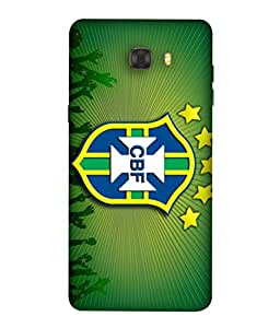 ColorKing Football Brazil 06 Green shell case cover for Samsung C9 Pro