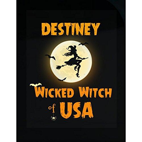 Destiney Wicked Witch Of Usa Halloween Gift - - Usa Destiney