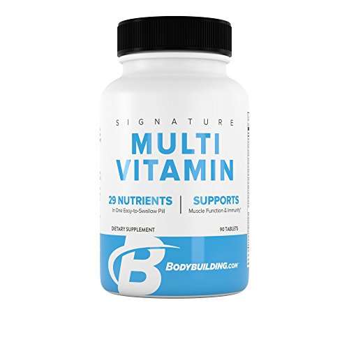 BodyBuilding.Com Signature Multivitamin Tablets | Adult Vitamin | Nutrient Supplement | Gluten Free | 90 Count