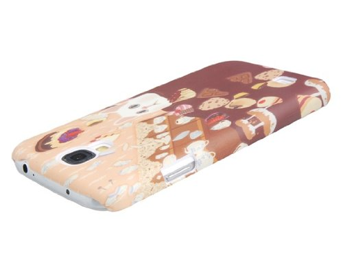 Delivery Time 20-30 Days Cute Cat & Delicious Food Print Plastic Protective Case for Samsung Galaxy S4/i9500