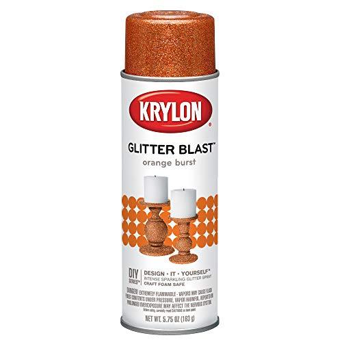 (Krylon K03807A00 Glitter Blast, Orange Burst, 5.75 Ounce)