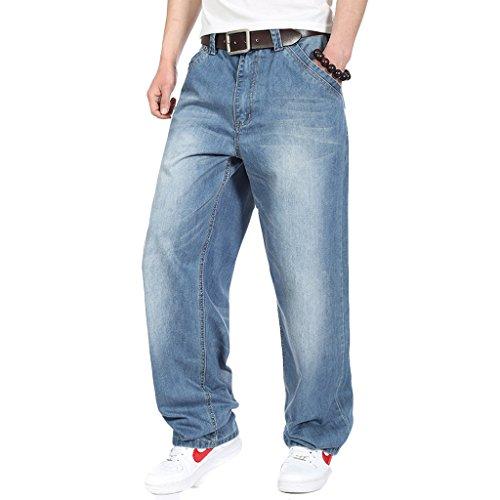 DOYK Mens Long Straight Fit Jean Skateboard Pants