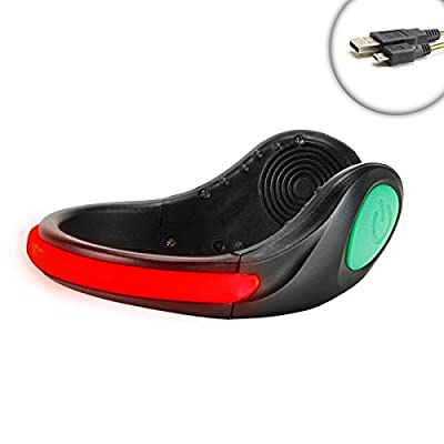 ENHANCE Portable High Visibility Flashing LED Ankle Shoe Dancing Light with Solid Beam and Flashing Bright Red Lighting Modes - Perfect for Concerts , Raves , Parties , Dancing , Shuffling and More