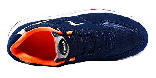 Rock Me Men's Sports I Mesh Air Max Cushion Running Shoe Orange Size 7.5