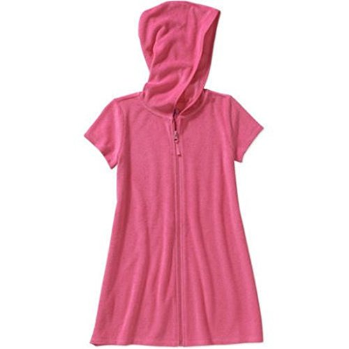 Op Girls Terry Hooded Swimsuit Cover Up (Extra Small 4-5, Pink Sizzle) (Terry Cloth Swim Cover)