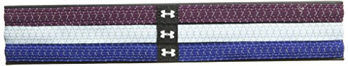 Under Armour Womens Reflective Mini Headbands - 3 Pack, Formation Blue (574)/Silver, One Size