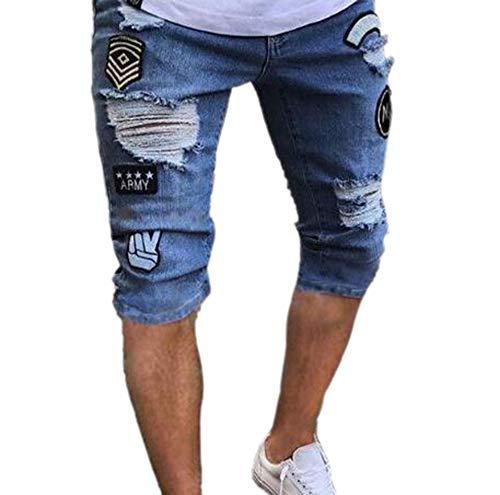 Keephen Pantalones Cortos de Mezclilla de los Hombres Pantalones Cortos de Mezclilla Pantalones Cortos de Mezclilla Pantalones Cortos de Mezclilla 2 #