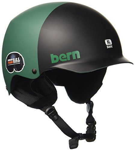 Bern Baker Matte - Bern 2016/17 Men's Baker Team EPS Winter Snow Helmet - w/Ear Flaps (Matte Hunter Green 2-Tone w/ Earflaps - S)