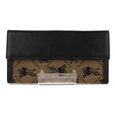 1390d8aa86f8 Amazon | (イルビゾンテ) IL BISONTE レザー コットン モノグラム長財布・5472300740-0061202 F(フリー)  ブラック(33) | レディースバッグ・財布
