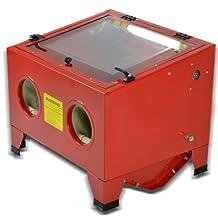 25 Gallon 80psi Bench Top Air Sandblasting Cabinet Sand Blaster Abrasive Blast Gun Heavy Duty