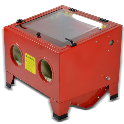 25 Gallon 80psi Bench Top Air Sandblasting Cabinet Sand Blaster Abrasive Blast Gun Heavy Duty