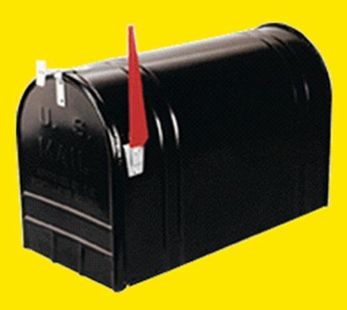 (Solar Group ST200B00 Post Mailbox, Black Ribbed Galvanized Steel, Jumbo, 15 x 11.5 x 23.5-In. - Quantity 1)