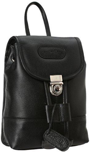 Leatherbay Leather Mini Backpack,Black,one -