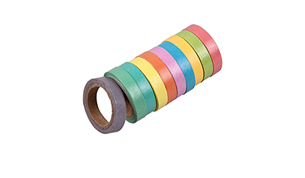23pcs Washi Tape Solid Rainbow Color DIY Paper Adhesive Sticker Decorative