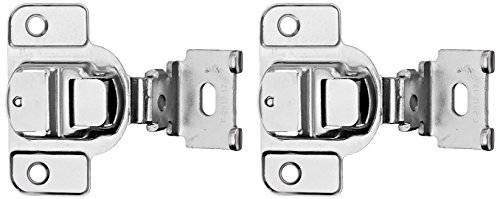 Amerock BP2811D1314 Matrix Concealed Hinge, 1-3/4in(45mm) Hole Pattern Hinge with 1-3/8in(35mm) Overlay - Nickel