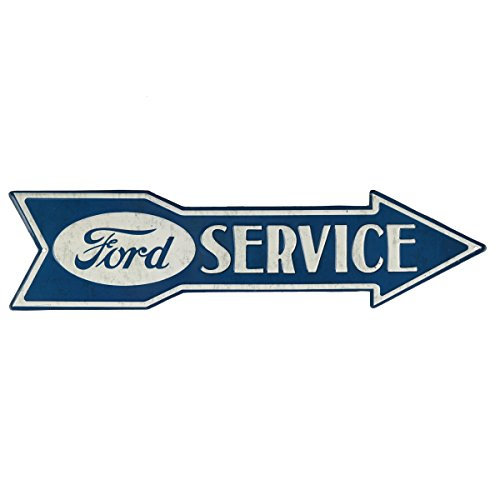Open Road Brands Ford Service Arrow Embossed Tin Sign