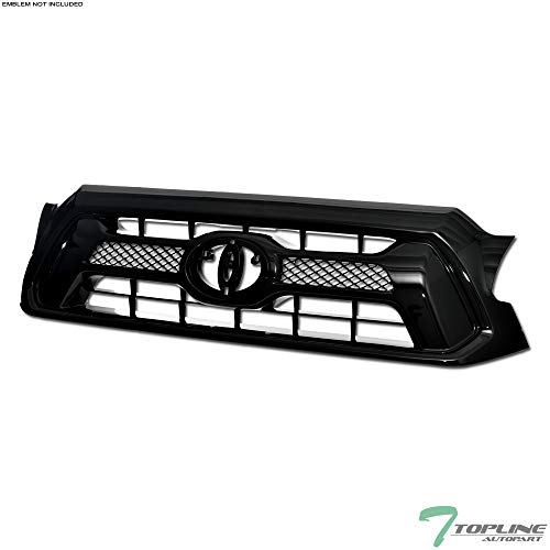 Topline Autopart Black OE Mesh Front Hood Bumper Grill Grille ABS For 12-15 Toyota Tacoma ()