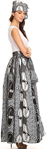 Asma Convertible blackblue Jupe Traditionnelle Sakkas Robe Longue rglable Imprimer 1118 Cire Sangle dqHPP5