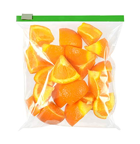 APQ Pack of 100 Freezer Food Slider Zip Bags 8 x 8. Clear Poly Bags 8x8. FDA Approved, 3.2 mil. Polyethylene Bags for Packing, Storing. Plastic Bags for Industrial, Food Service, Healthcare Needs from APQ Supply
