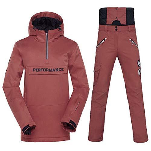ZYJANO Combinaison de Ski Costume de Ski, en Plein air d' Hiver, monocarte, Double Ski, Coupe – Vent, imperméable, Chaud et épais Costume de Ski, Colo3, L