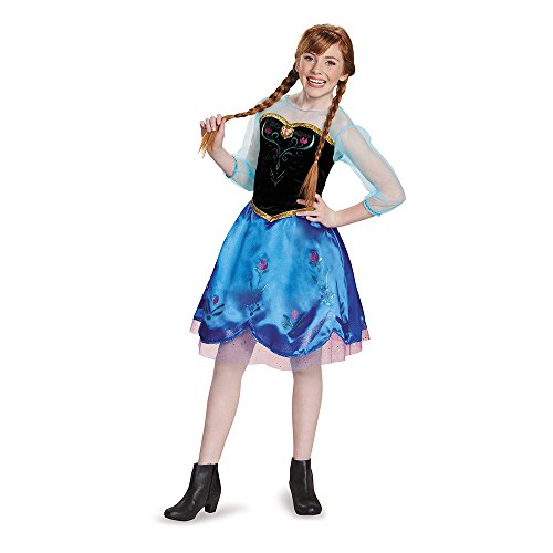 Disguise Anna Traveling Tween Costume, X-Large (14-16) (Halloween Costum Ideas)