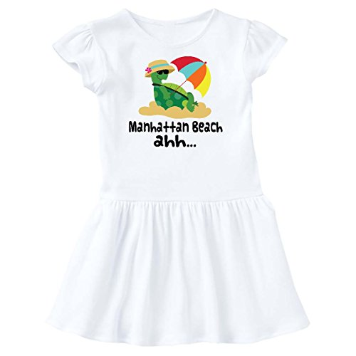inktastic Manhattan Beach CA Cute Toddler Dress 3T White - 198 Ca