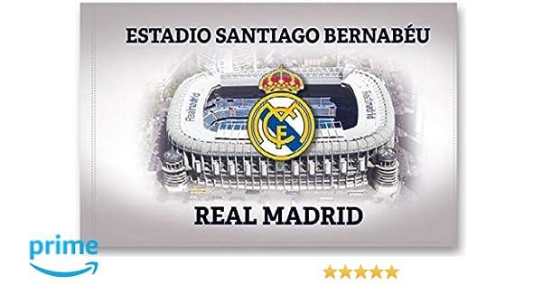 BANDERA REAL MADRID ESTADIO SANTIAGO BERNABEU 150x100 CM: Amazon ...