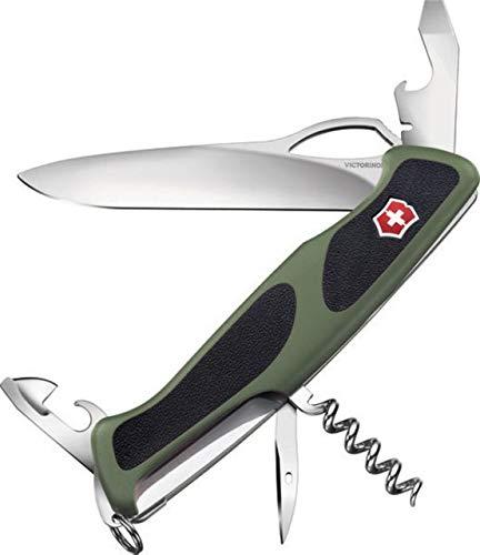 Victorinox Swiss Army RangerGrip 61 Swiss Army Knife, Green/Black