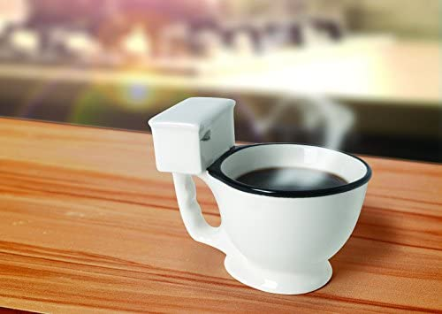ab47ebc013d Toilet Bowl Mug For Coffee, Tea, Beverages And More - 14-Ounce Unique  Novelty Ceramic Mug by Ideas In Life