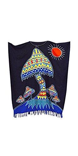 Urlaub Coole Kaftane FUNKY PILZ Kaftan Strand kühle Sommer Damen lange Frauen Frauen künstlerische Kleid