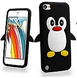 غطاء Penguin 3D Cartoon Apple ipod touch 5 (الجيل الخامس) / Touch 6 (الجيل السادس) اسود وابيض