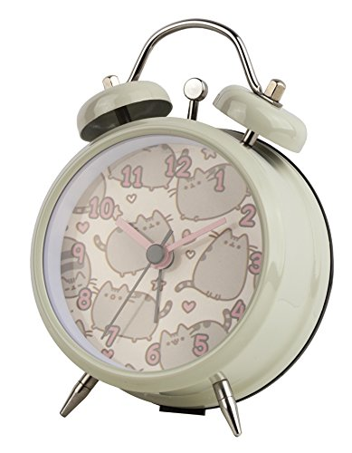 official-pusheen-cat-childs-mini-twinbell-analogue-metal-hand-alarm-clock-multi-coloured