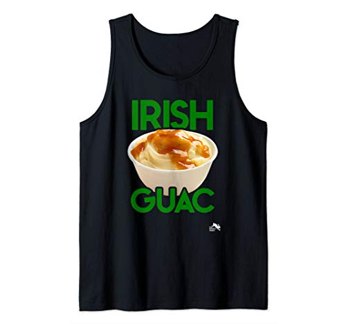 Irish Guac Funny Mashed Potato  Tank Top