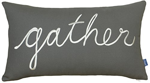 DecorHouzz Gather Embroidered Pillow Cover Decorative Pillow