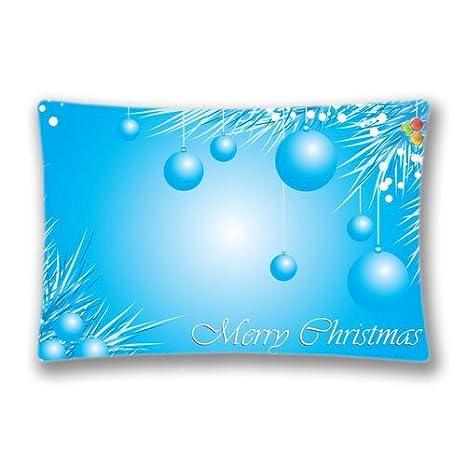 Amazon.com: Azul claro Navidad Throw almohada cover, 20 x ...