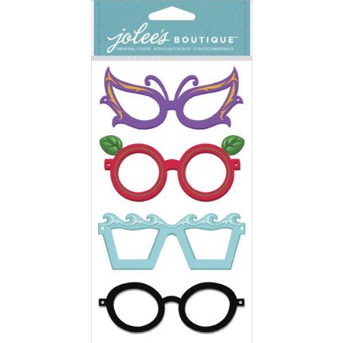 EK Success Brands Jolee's Boutique Decorative Stickers, Glasses Dress - Top Eyeglass Brands
