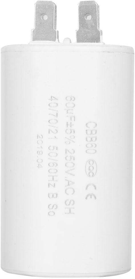 60uF Condensador CBB60, Condensador de funcionamiento en forma de cilindro CBB60 AC 250V 50 / 60HZ para lavadora de bomba de motor, Condensador de funcionamiento CBB60