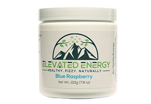 Healthy Energy Drink Powder - Stevia & Natural Caffeine | Elevated Energy Fizzy Drink Mix | Blue Raspberry | 30 Servings