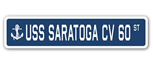 USS SARATOGA CV 60 Street Sign us navy ship veteran sailor gift