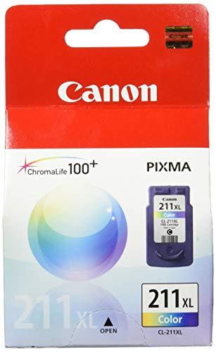 Canon CL-211XL 2975B001 PIXMA iP2700 iP2702 MP230 MP235 MP240 MP250 MP260 MP270 MP280 MP282 MP480 MP490 MP495 MP499 MX320 MX330 MX340 MX350 MX360 MX410 MX420 Ink Cartridge (Color) in Retail Packaging (Canon Pixma Ink Color Mp490)