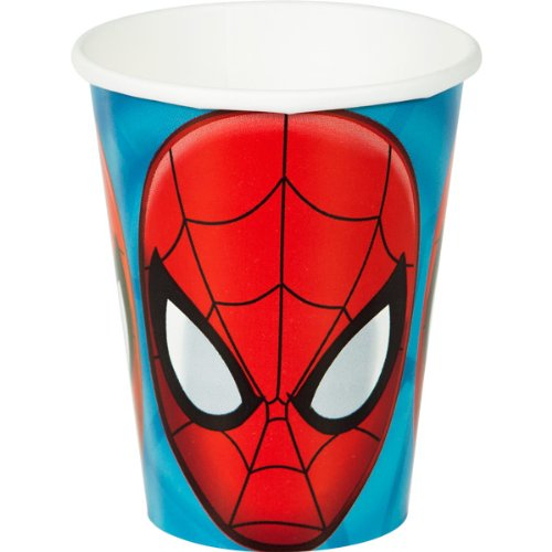 (Amscan Spidey-Cool Spider-Man Birthday Party Paper Cups (8 Pack), 9 oz,)
