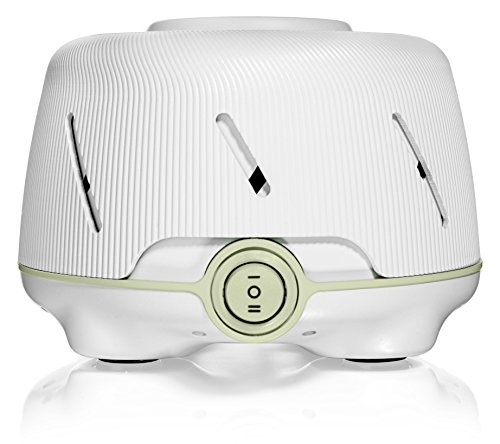 Yogasleep Dohm (White/Green)| The Original White Noise Machine | Soothing Natural Sound from a Real Fan | Noise Cancelling | Sleep Therapy, Office Privacy, Travel | For Adults & Baby | 101 Night Trial