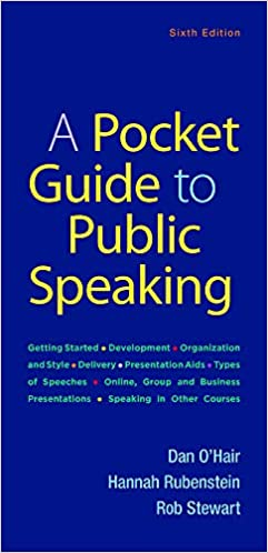 A Pocket Guide To Public Speaking O Hair Dan Rubenstein Hannah