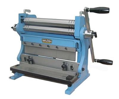 "Baileigh SBR-1220 3-in-1 Combination Shear Brake Roll Machine, 12"" Bed Width, 20-Gauge Mild Steal Capacity"