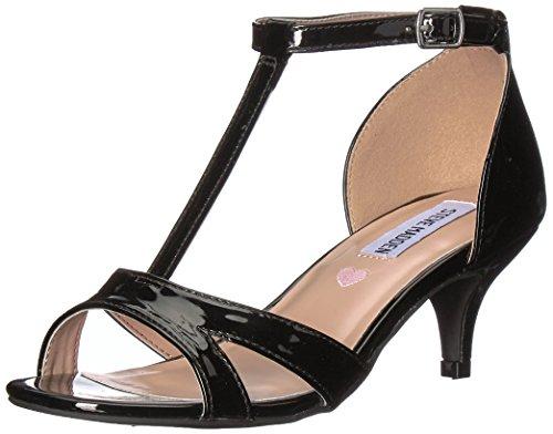 Steve Madden Girls' JPRINCESS Heeled Sandal, Black Patent, 1 M US Little Kid