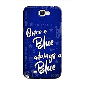 Cover It Up - Chelsea- Once a Blue Galaxy Note 2 N7100 Hard Case