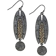 TRENDY FASHION JEWELRY TIERED DOTTED ETCHED DROP EARRINGS BY FASHION DESTINATION