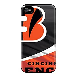 Awesome Design Cincinnati Bengals Hard Case Cover For Iphone 4/4s