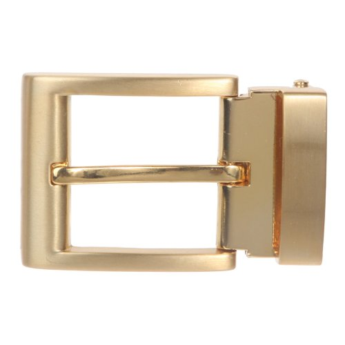 1 1/4 Inch (34 mm) Nickel Free Brass or Gold Clamp Belt Buckle, Gold